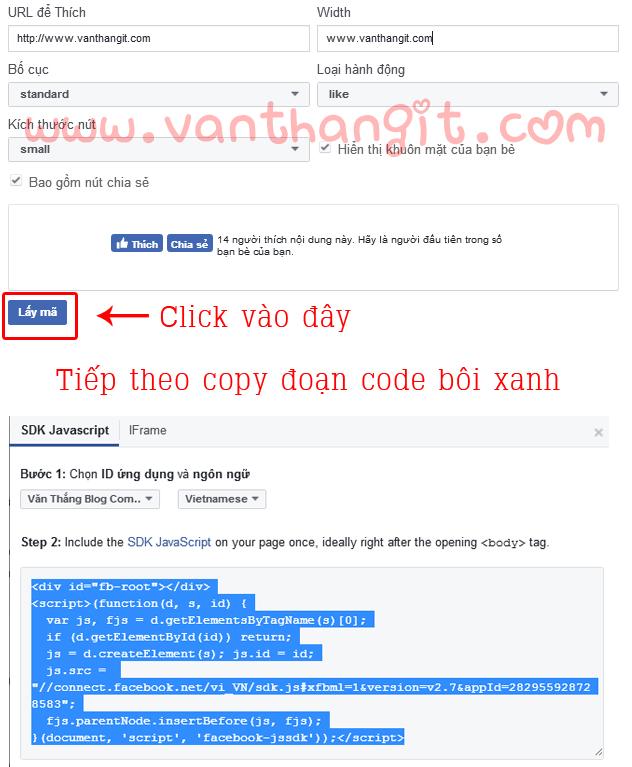 Chèn background, ảnh nền vào button like Facebook cho Blogspot - Văn Thắng Blog