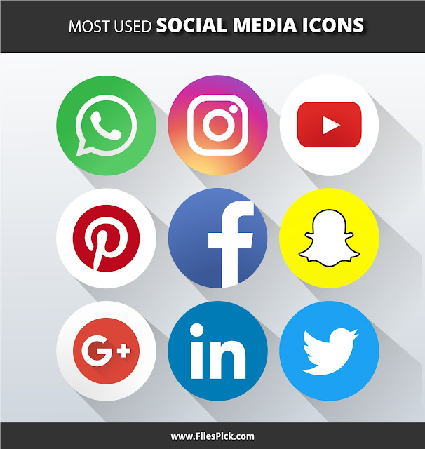 social media icons pack vector