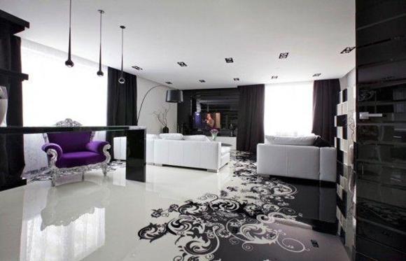 Sala piso 3D