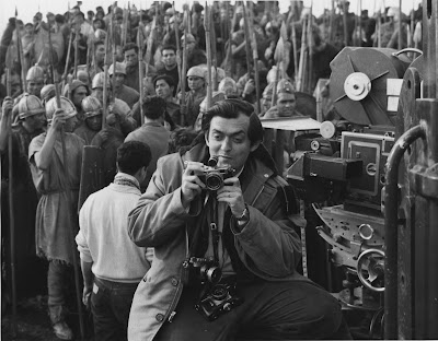 Stanley Kubrick on the set of Spartacus (1959–60; United States) in Spain. © Universal Studios Inc.