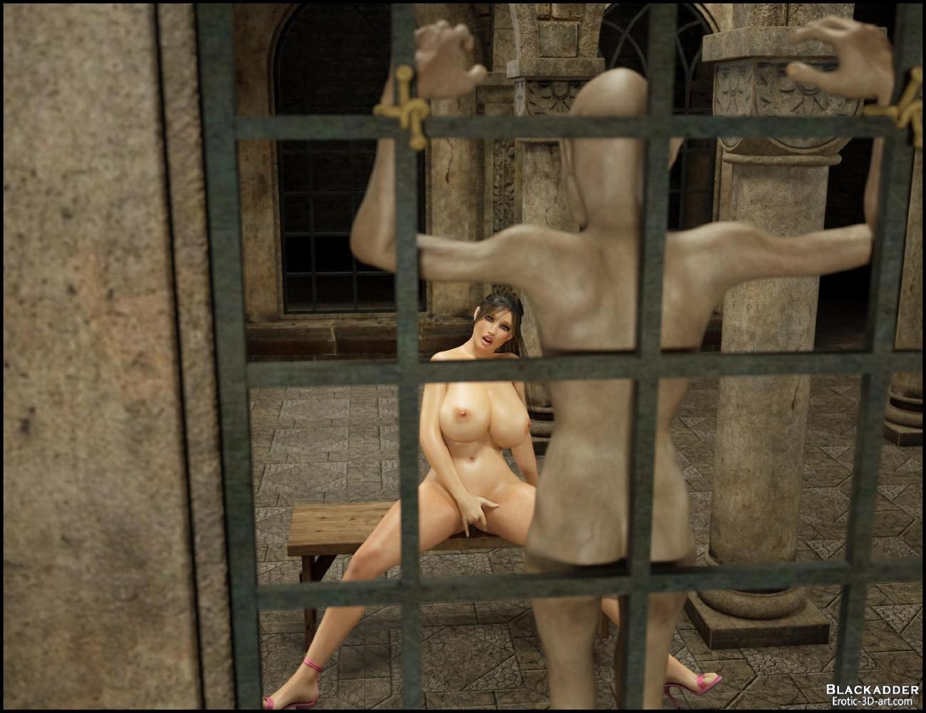 lara croft captured