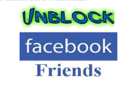 How to Unblock Facebook Friend