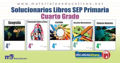 Solucionarios Libros SEP Primaria Cuarto Grado ~ MATERIAL EDUCATIVO