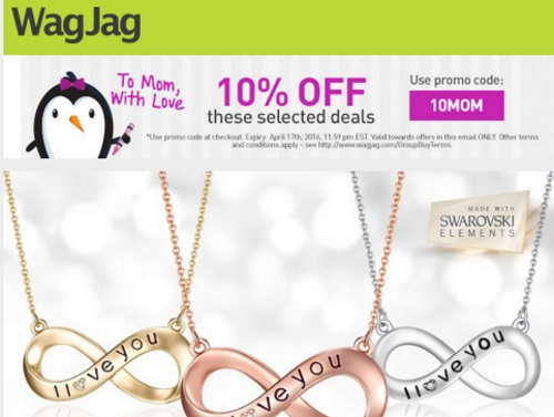 Wagjag 10% Off Mother's Day Promo Code