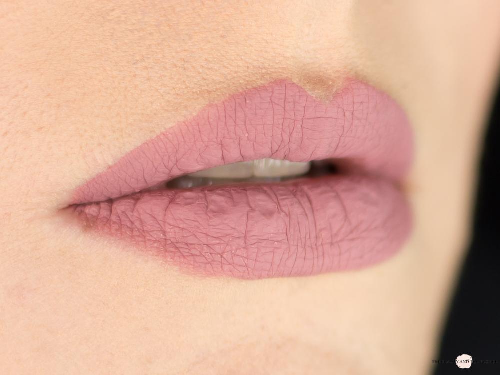 e.l.f. Cosmetics Matte Lipstick Tea Rose Swatch Lipswatch Review elf