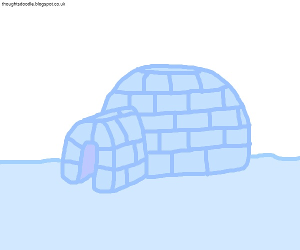 Doodle Thoughts: A to z Challenge - Day 10 - Who lives in an Igloo