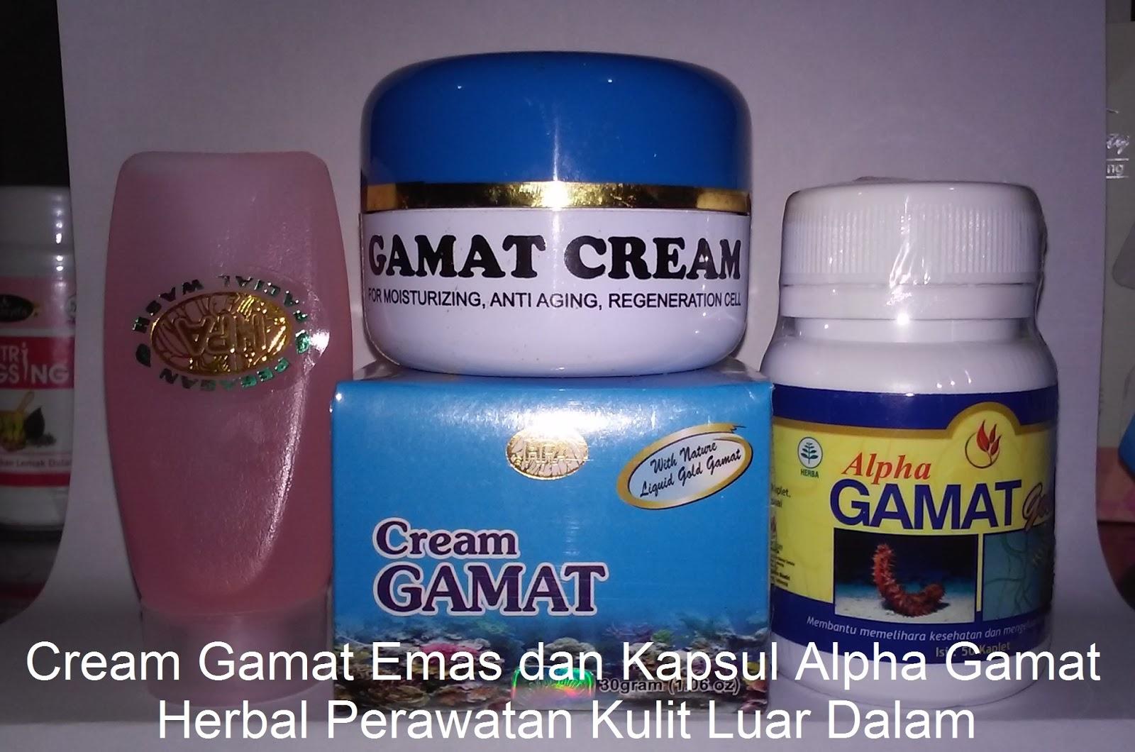 cream perawatan wajah alami Gamat Gold pemutih penghilang ...