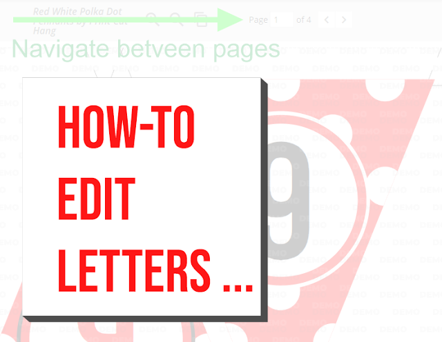 How to Edit Letters on Printable Banner By Print Cut Hang