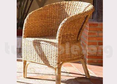 sillón para comedor hecho en rattan natural j942