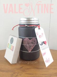 Teacher Valentine's Day Gifts - Chalkboard Jars - LeroyLime
