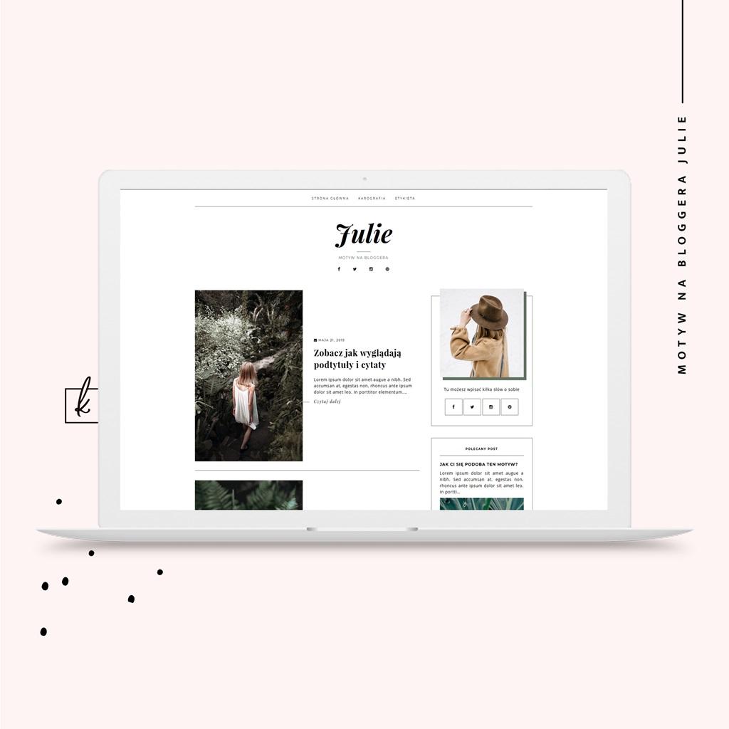 motyw na bloggera Julie - szablon na blogspota