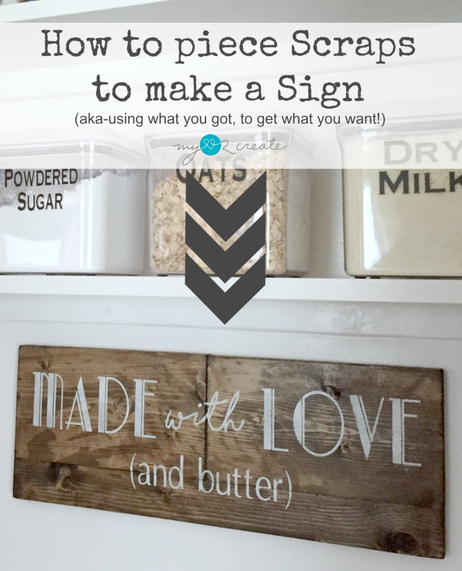How to piece scraps to make a sign, MyLove2Create