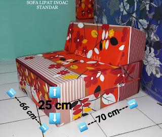 Sofa lipat inoac standar posisi sofa