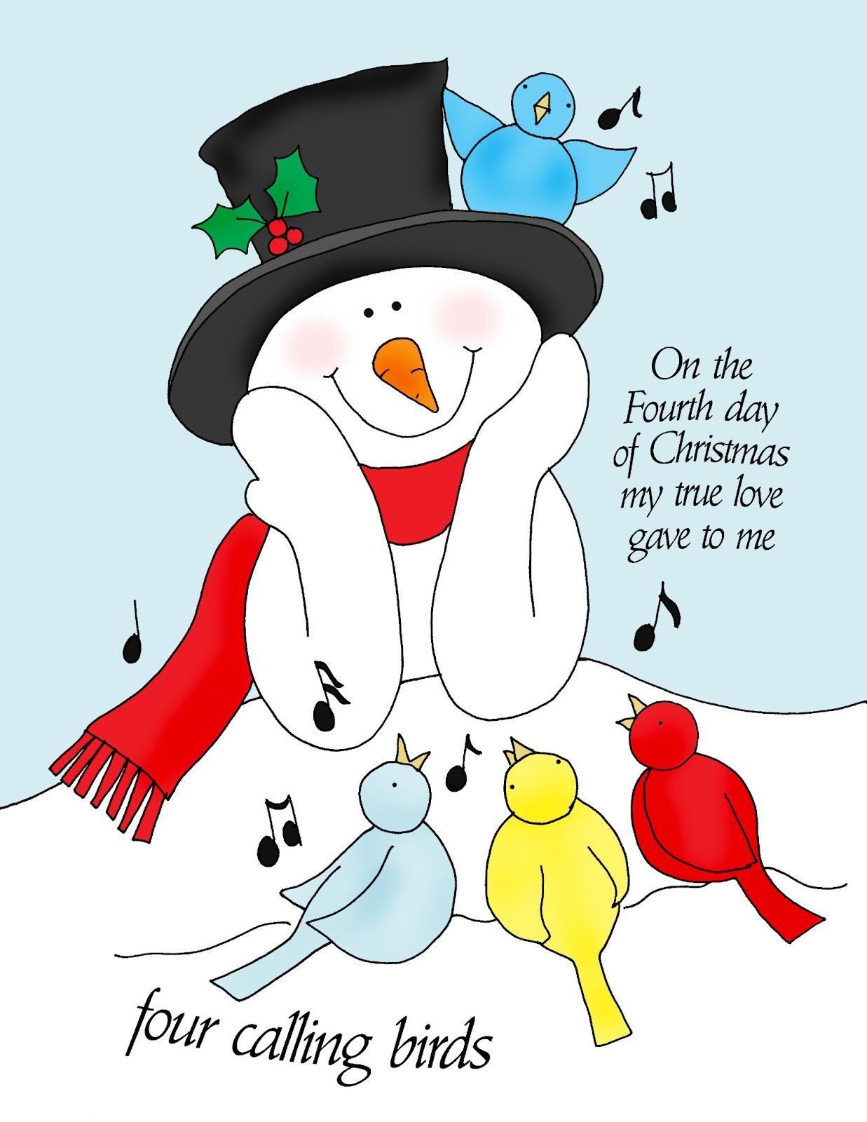 Four calling birds christmas