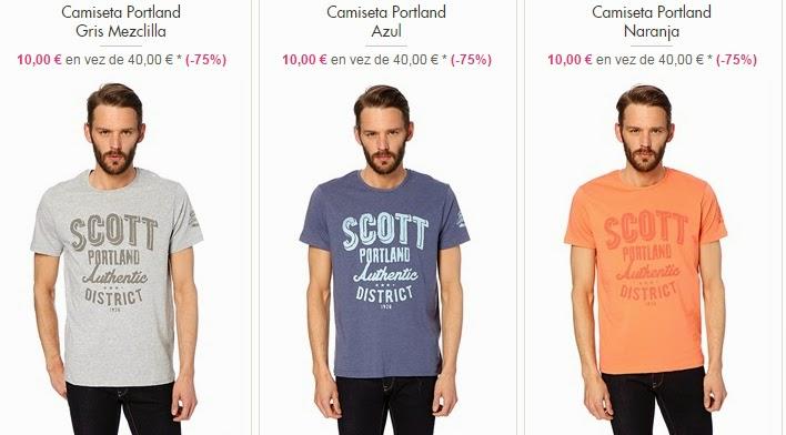 Camisetas de cuello redondo para hombre