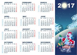 2017カレンダー無料テンプレート167