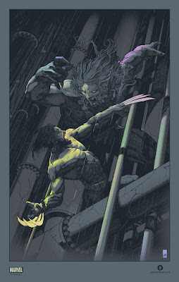 Wolverine vs. Sabretooth Foil Variant Screen Print by John Guydo x Bottleneck Gallery x Marvel