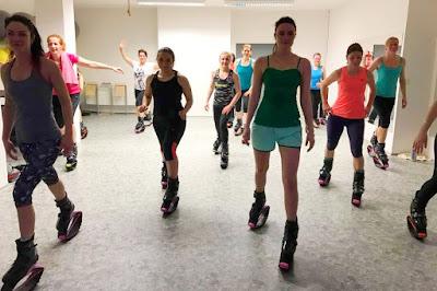 kangoo jumps, kardio, posilování, fitness, lekce, skákací, boty