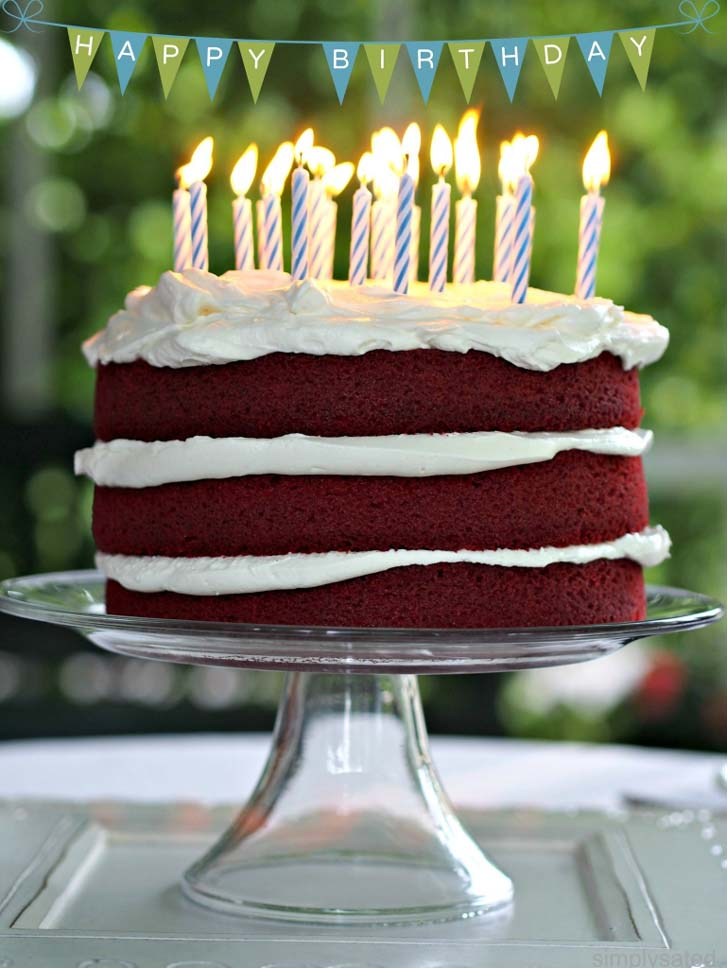 Pleasing Red Velvet Birthday Cake Funny Birthday Cards Online Alyptdamsfinfo