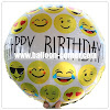 Balon Foil Happy Birthday Emoji / Balon Foil HBD Emoji