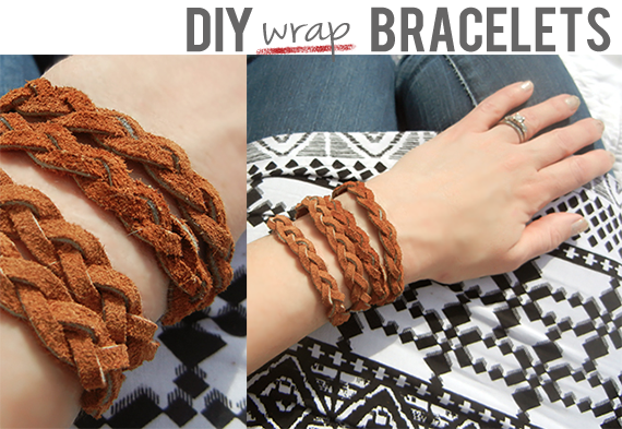 DIY Leather Wrap Bracelets // Bubby & Bean