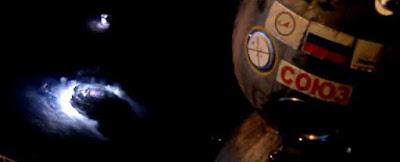 luzes azul no foram gravados no espaço