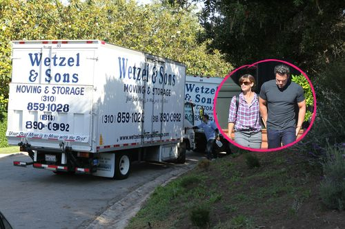 There's been a long time: moving truck when Jennifer Garner & Ben Affleck