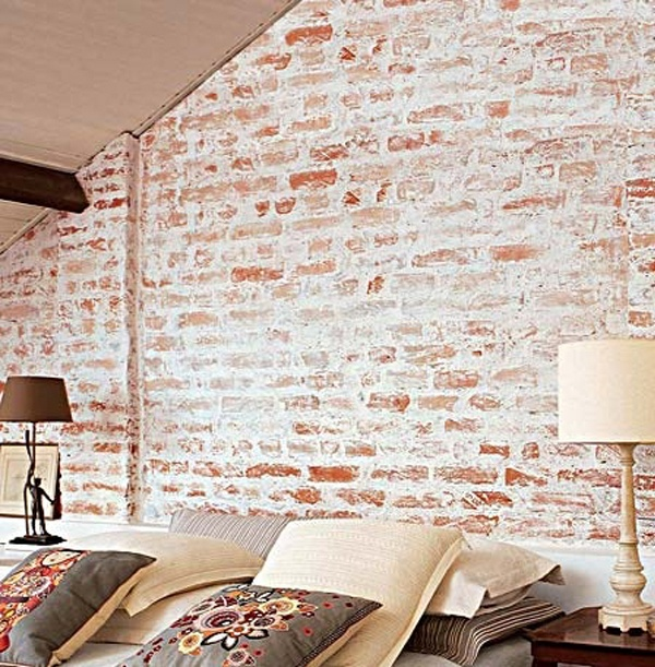 15 quartos com tijolos vista tijolos aparentes jeito de casa blog de decora o e - Modelos de papel pintado ...