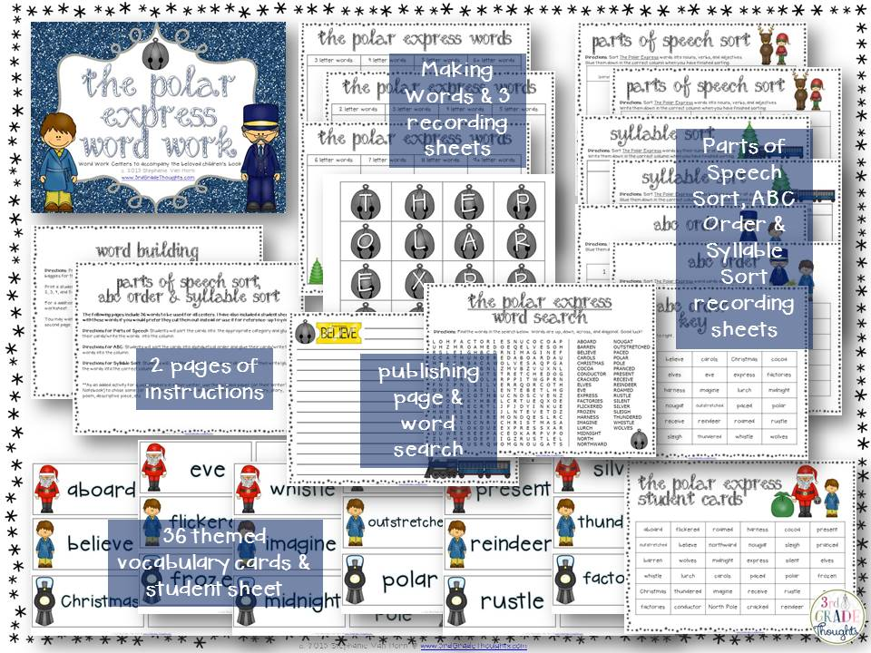 Technology Resources for The Polar Express | 3rd Grade Thoughts