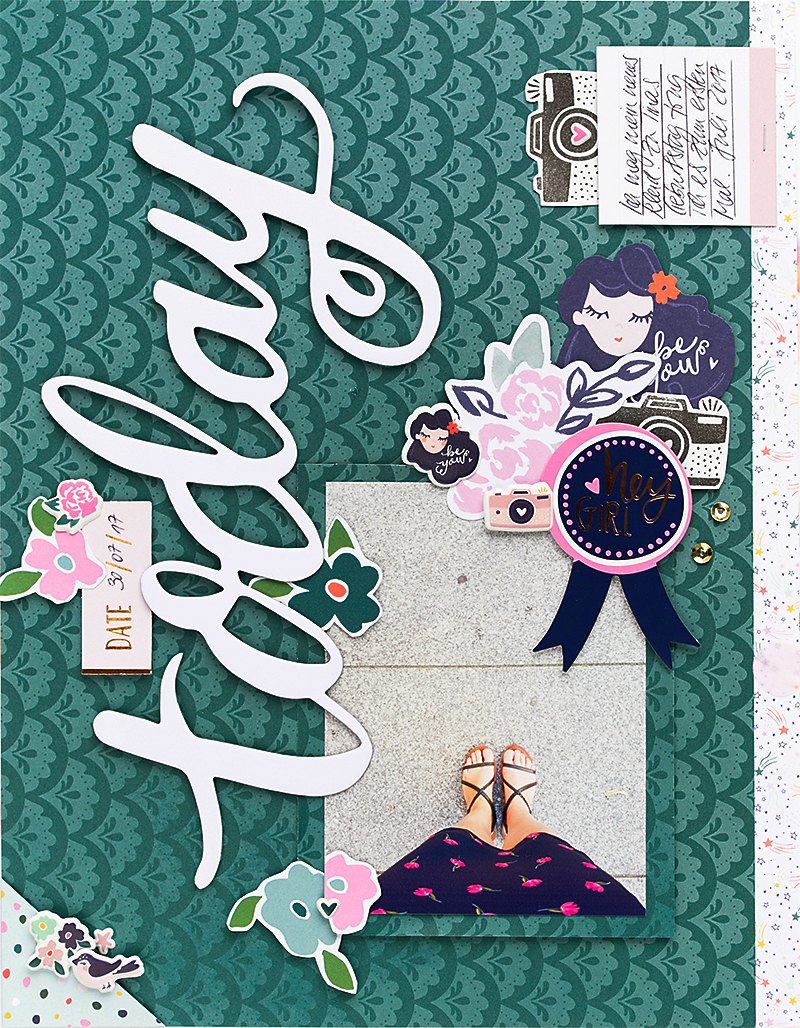 Scrapbook layout @SandraDietrich for @DearLizzy @Americancrafts