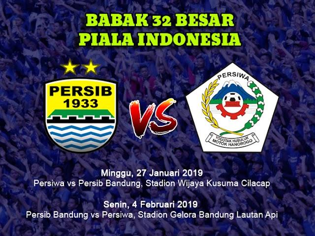 Jadwal Home-Away Persib VS Persiwa di Babak 32 Besar Piala Indonesia
