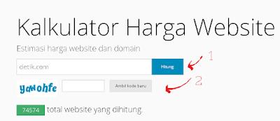 cek harga website dan domain