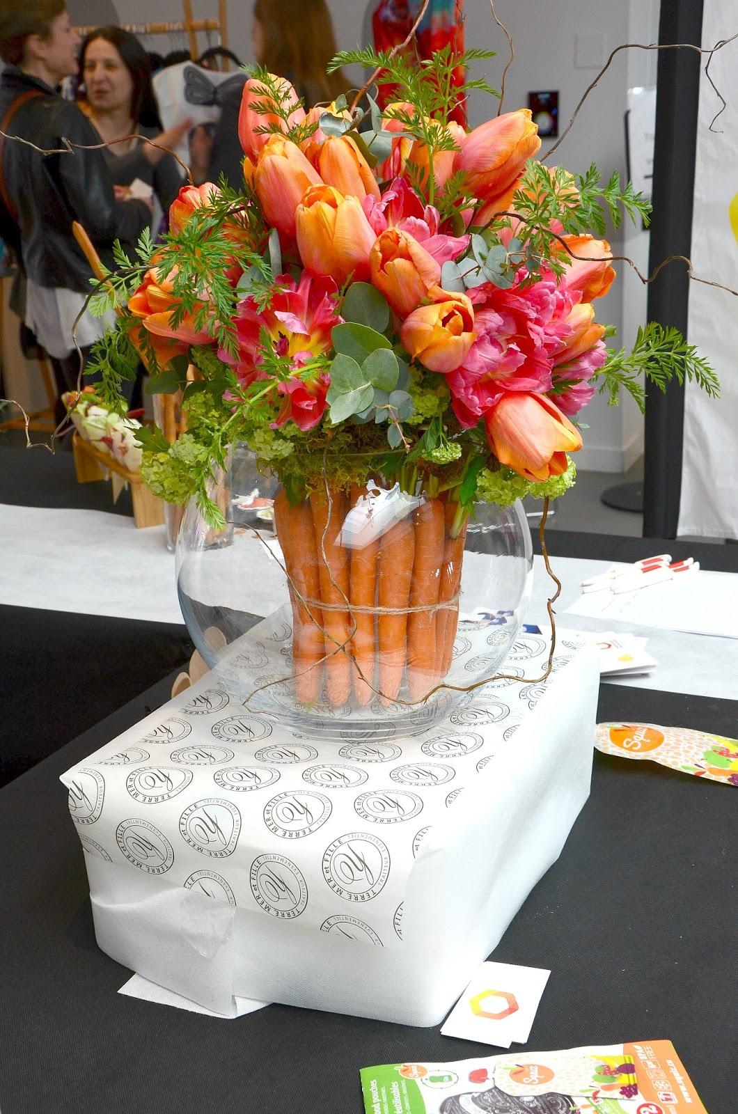 Harmonie mutelle bouquets de fleurs carottes