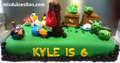 Tortas Angry Birds. Venta de tortas de Angry Birds en Lima, Santa Anita, La Molina, San Miguel, Pueblo Libre