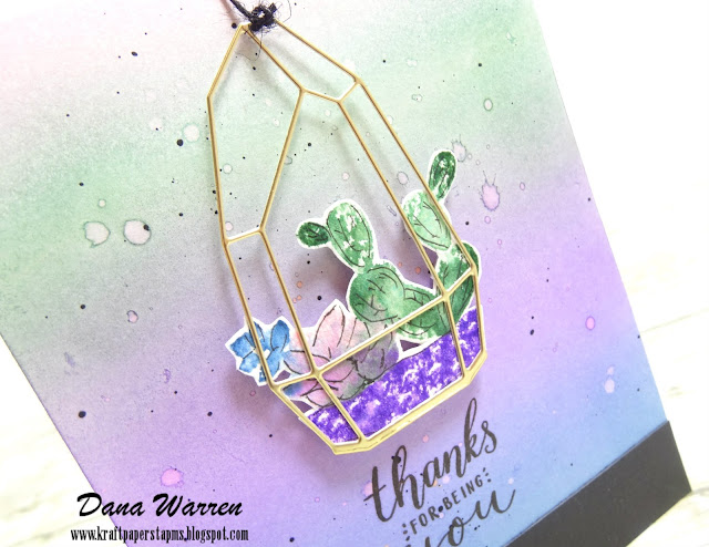 Dana Warren - Kraft Paper Stamps - PinkFresh Studio - Succulents