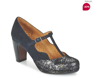 zapatos de tacon de Chie Mihara modelo Machi marino en oferta