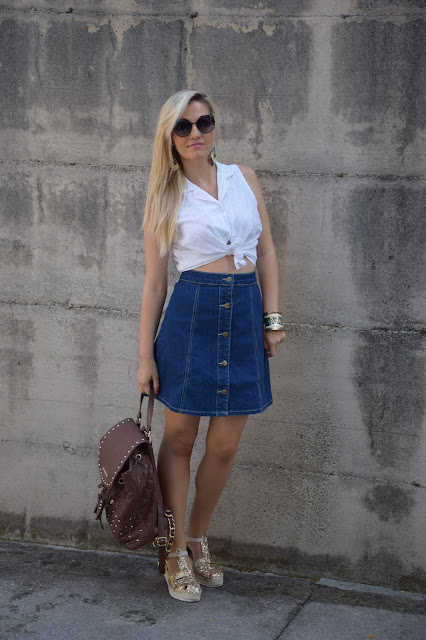 outfit gonna linea a come abbinare la gonna linea a  a line skirt  how to wear a line skirt how to combine a line skirt mariafelicia magno fashion blogger colorblock by felym outfit luglio 2016 outfit estivi summer outfits july outfits fashion blogger italiane fashion bloggers italy