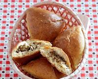пирожки с капустой и мясом печеные