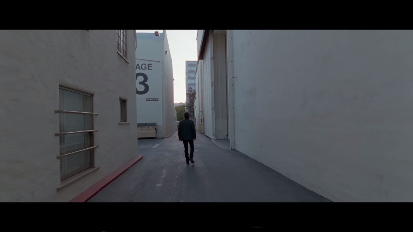 Terrence Malick Knight of Cups Trailer One Point Perspective Back to the camera Rick Path Hollywood