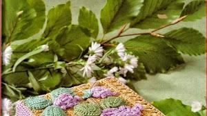Caja decorada con crochet irlandés - explicación en Español