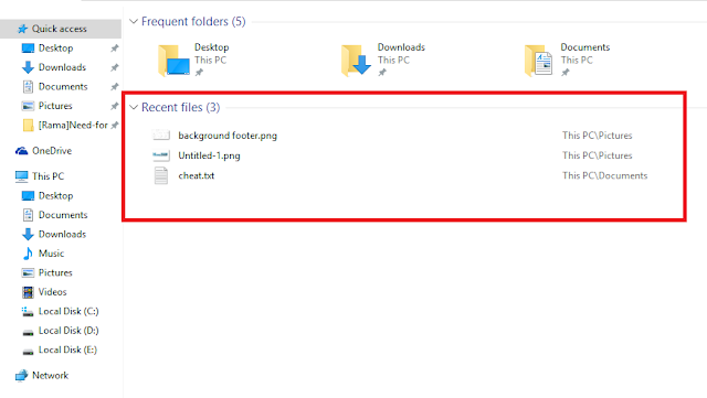 Teknik menghilangkan recent file sekaligus menghapus frequect folder pada windows explorer  Teknik Menghilangkan Recent File dan Frequent Folder di Windows 10 pada Quick Access