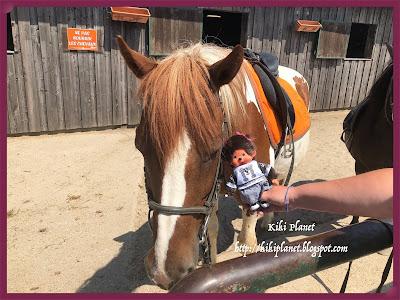 kiki monchhichi cheval équitation deauville poney ranch