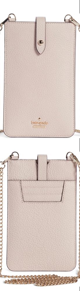 Kate Spade New York pebbled leather phone crossbody bag