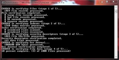 Cara memperbaiki bad sector harddisk dengan CMD 2