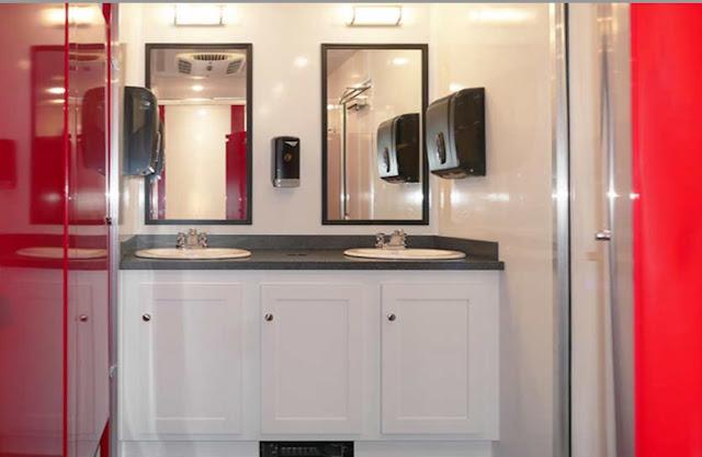 Women's Vanity area in Restroom
