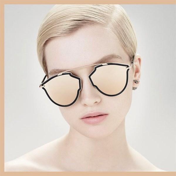 ...  So Real O , têm lentes mais arredondadas e armação dourada e preta. E  para os aficionados no acessório, a Dior já confirmou que os novos modelos  chegam ... 720e8155c763