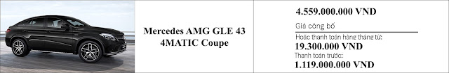 Giá xe Mercedes AMG GLE 43 4MATIC Coupe 2019 giảm giá hấp dẫn
