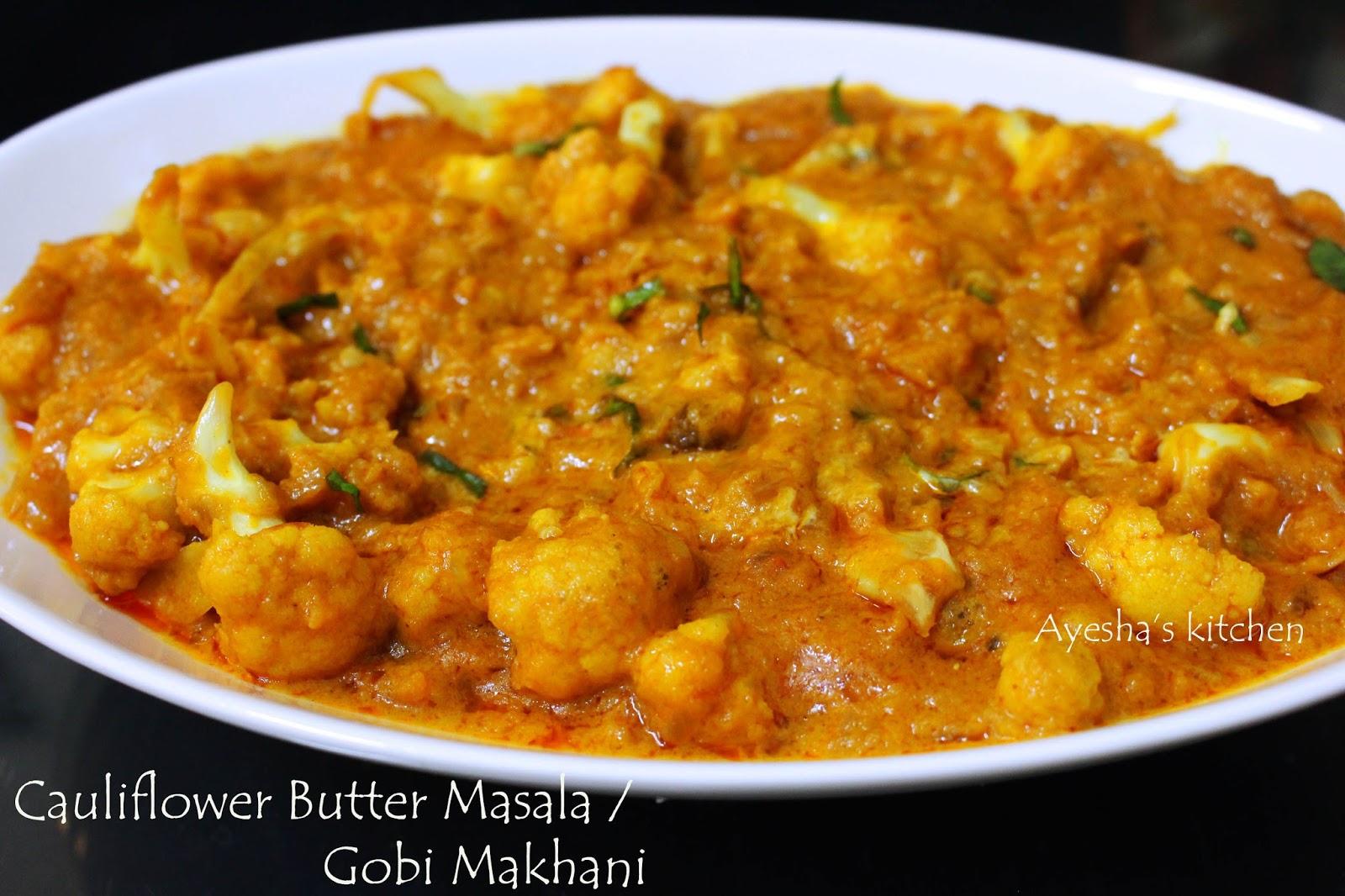Gobi makhani cauliflower butter masala how to make basic gobi makhani cauliflower makhani vegetable side dishes gobi gravy forumfinder Gallery