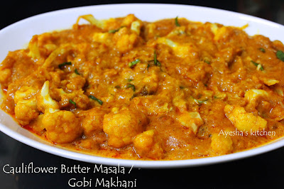 gobi makhani cauliflower makhani vegetable side dishes gobi gravy