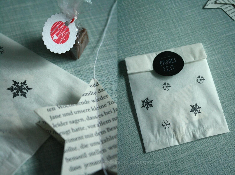 DIY, Butterbrottüten, Weihnachten, kleines Weihnachtsgeschenk für Erzieherinnen, basteln, Mitbringsel, Weihnachtspräsent, selbstgemacht, kleines Dankeschön, Weihnachtsstern aus Buchseiten